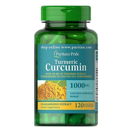 Curcuma Turmeric Curcumina 1000mg - 120 Caps - Puritans Pride