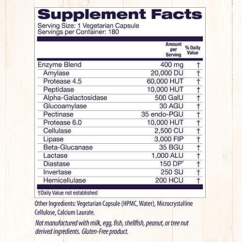 Enzimas Digestivas (Amplo Espectro) Healthy Origins - 180 Cápsulas Veganas