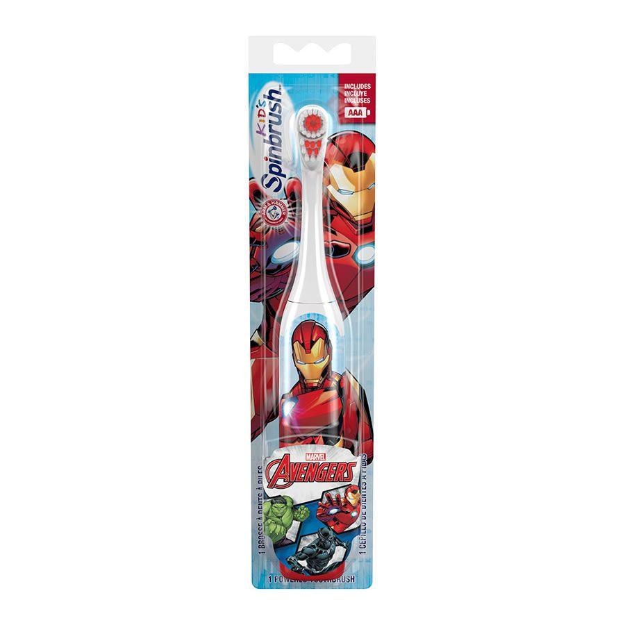 Escova Dental Elétrica Infantil Spinbrush Vingadores - Homem de Ferro