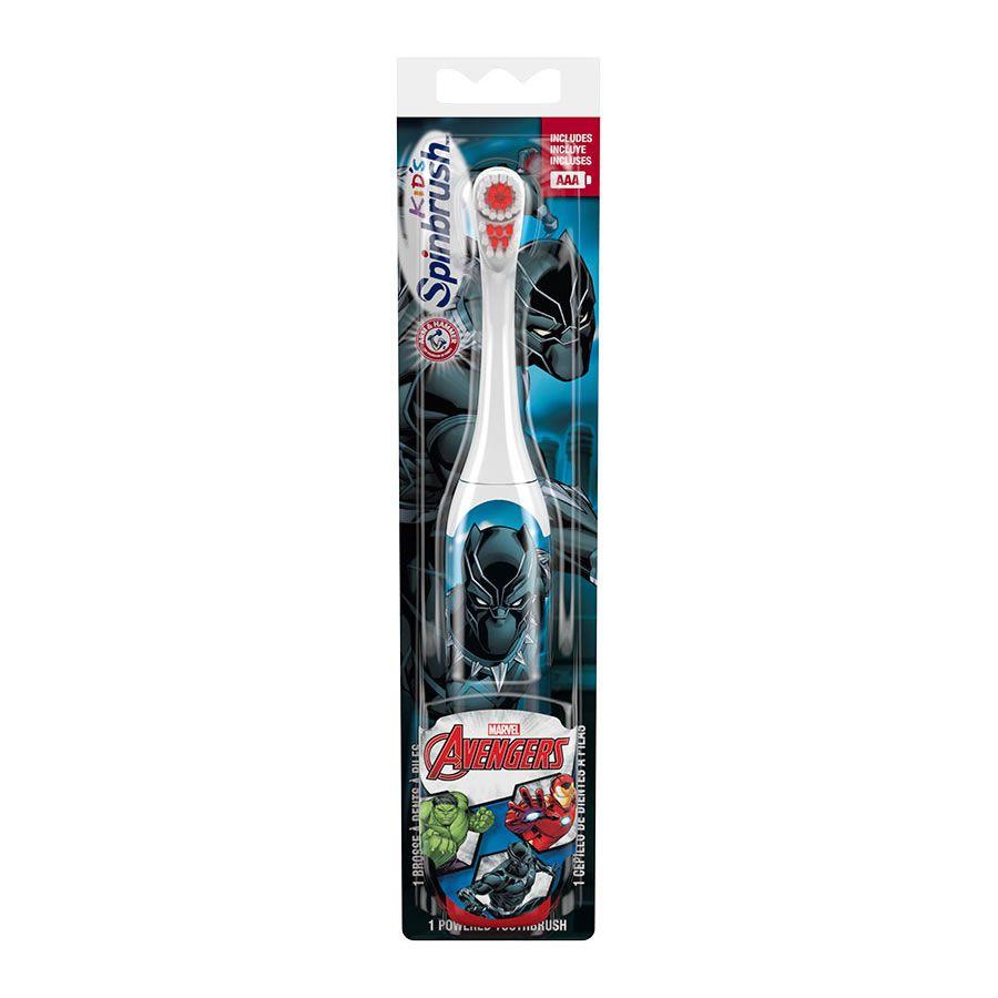 Escova Dental Elétrica Infantil Spinbrush Vingadores - Pantera Negra