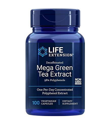 Extrato de Chá Verde Polifenol EGCG Life Extension - 100 Capsulas Veganas