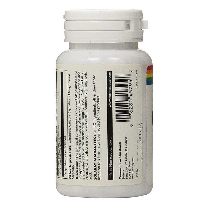 Fosfoetanolamina Calcium Eap 500mg Solaray - 60 Cápsulas