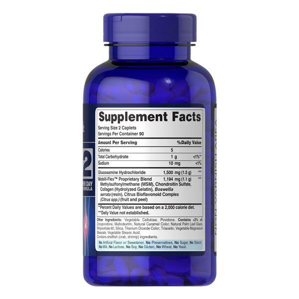 Glucosamina Condroitina MSM - Puritans Pride - 180 Capsulas Tripla Potência - Importada