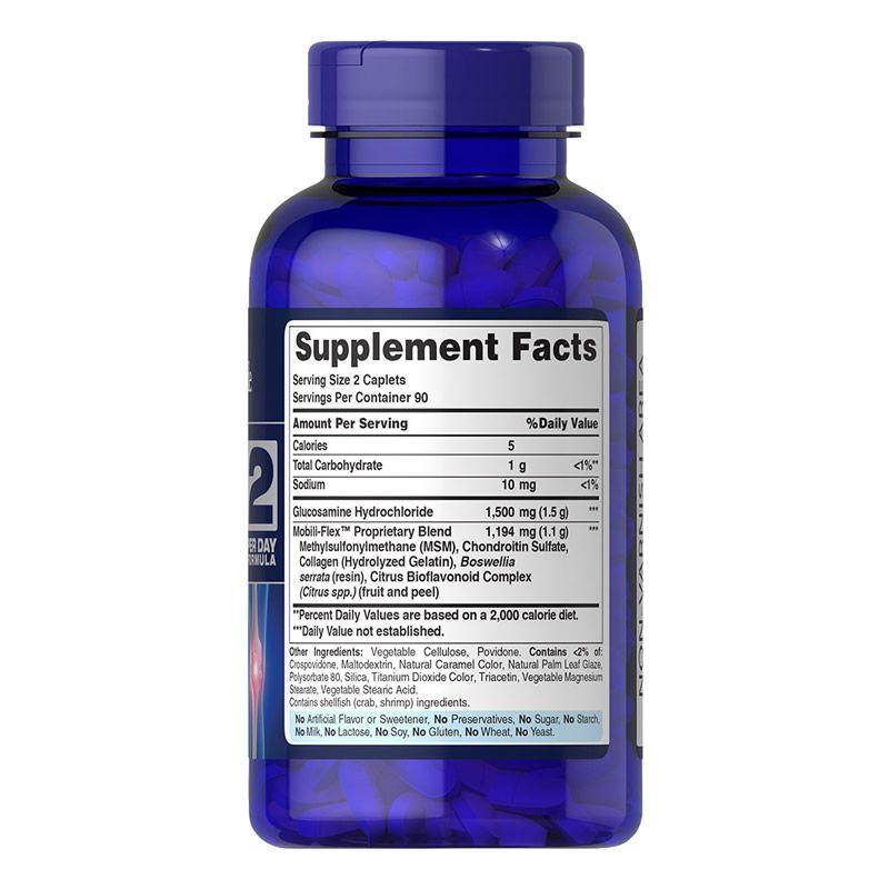 Glucosamina Condroitina MSM Puritans Pride  90 Capsulas Tripla Potência