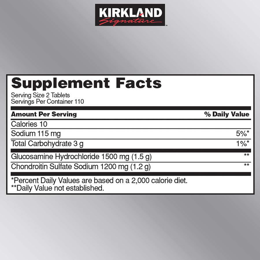 Glucosamina Kirkland Signature 1500mg - 220 Tabletes