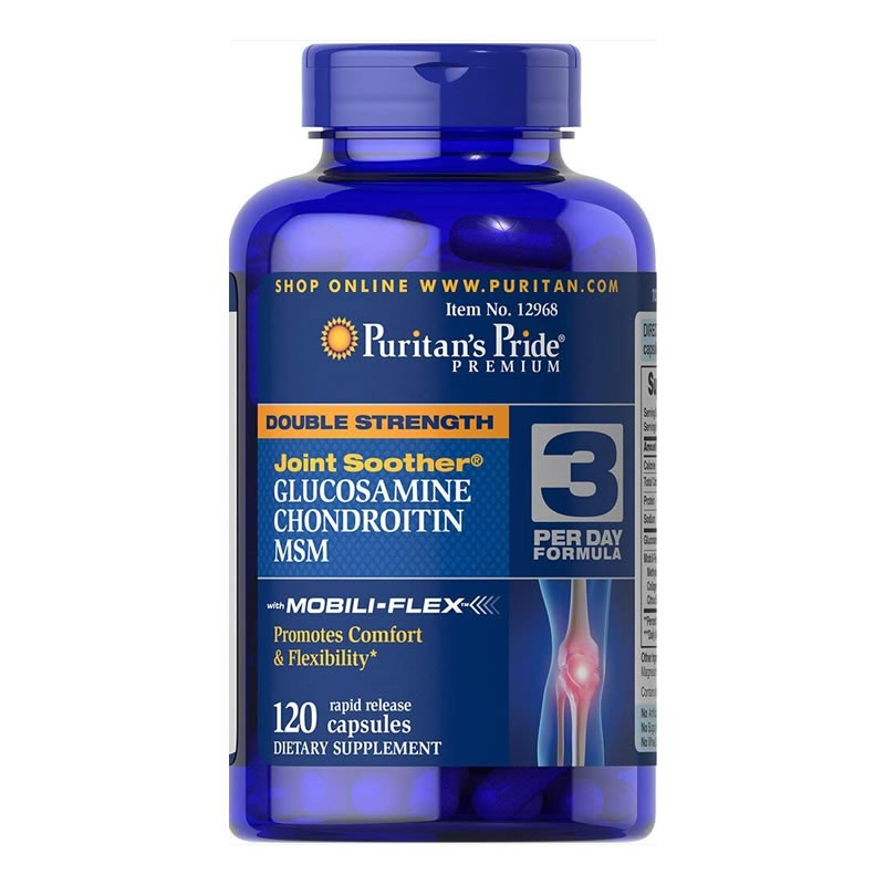 Glucosamina Puritans Pride Dupla Força - 120 Cápsulas