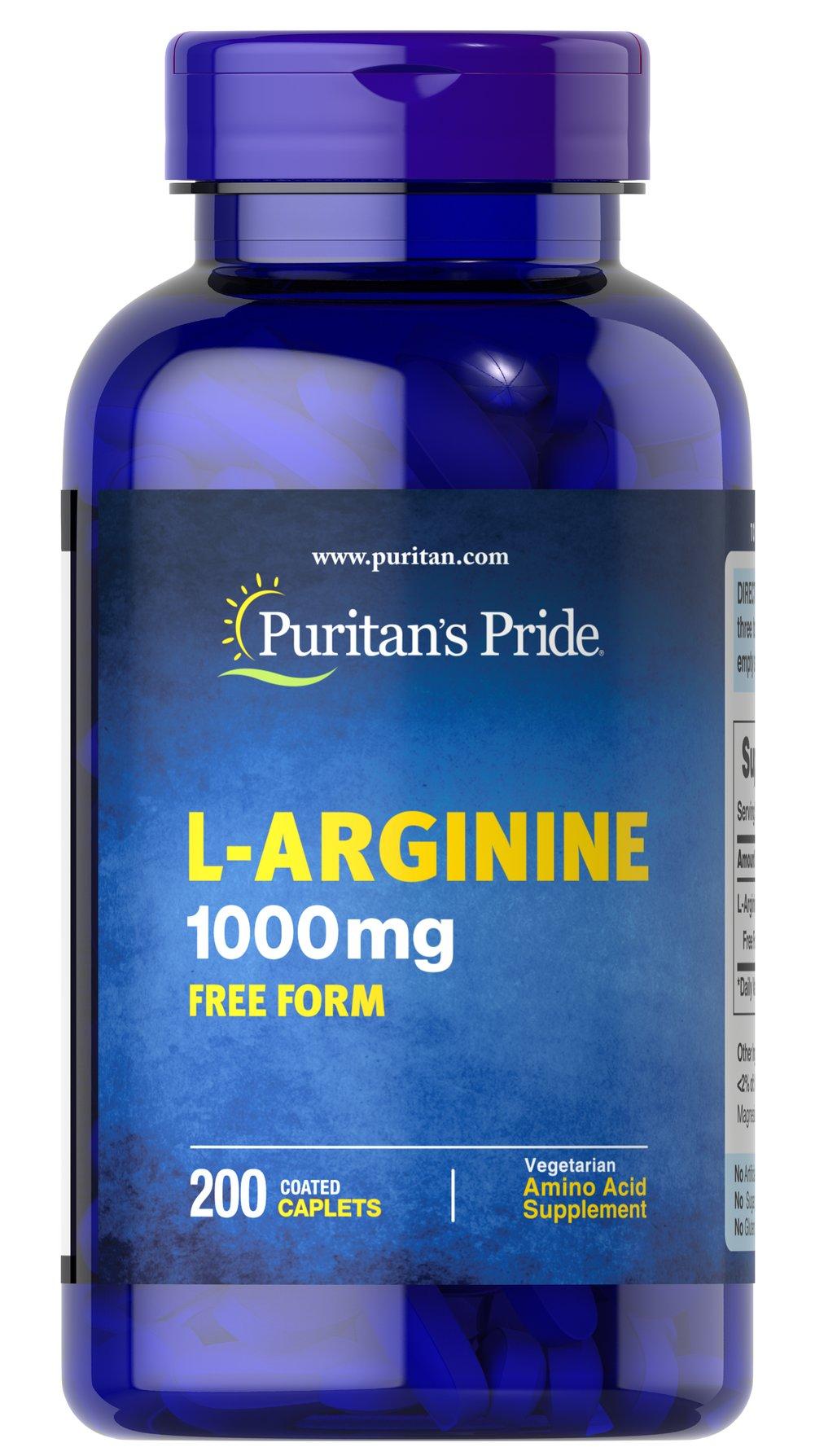 L-Arginine 1000mg com Aminoacido Puritan - Pride - 200 Capsulas