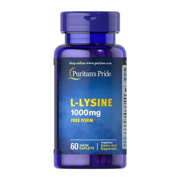 Lisina L-Lysine 1000mg Puritans Pride - 60 Cápsulas
