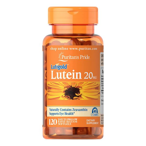 Luteina 20mg com Zeaxanthin 120 Softgels Puritans Pride