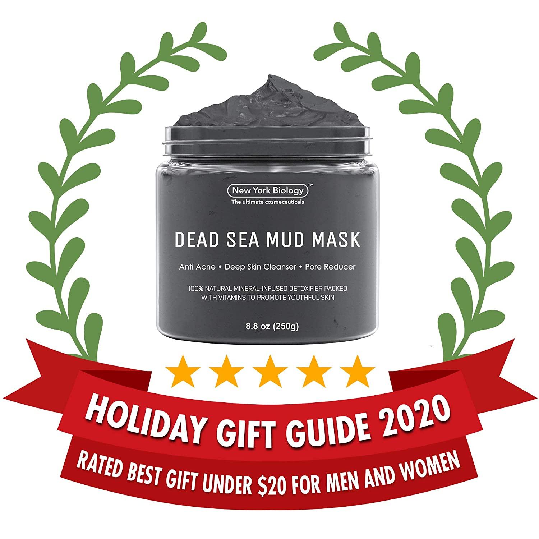 Máscara Lama Mar Morto para Acne, Cravos e pele Oleosa New York Biology - 250g