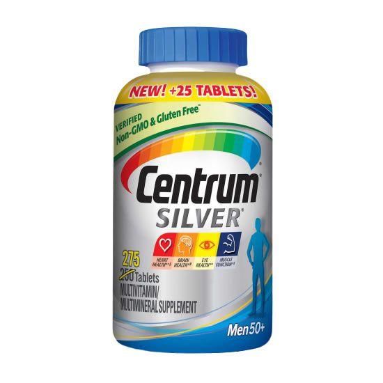 Multivitamínico Centrum Silver Men 50+ para Homens - 275 Tabletes
