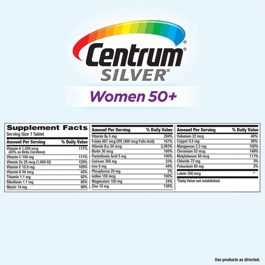 Multivitamínico Centrum Silver Women 50+ para Mulheres - 275 Tabletes