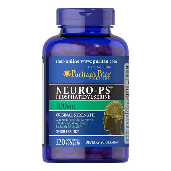 Neuro PS Fosfatidilserina 100mg Puritans Pride 120 Softgels