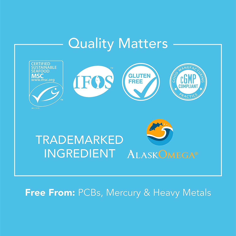 Omega 3 Fish Oil com EPA & DHA 1250mg Tripla Força Sports Research - 90 Softgels