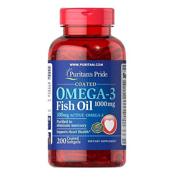 Ômega 3 Fish Oil Puritan's Pride - 1000mg – 200cápsulas - Importado