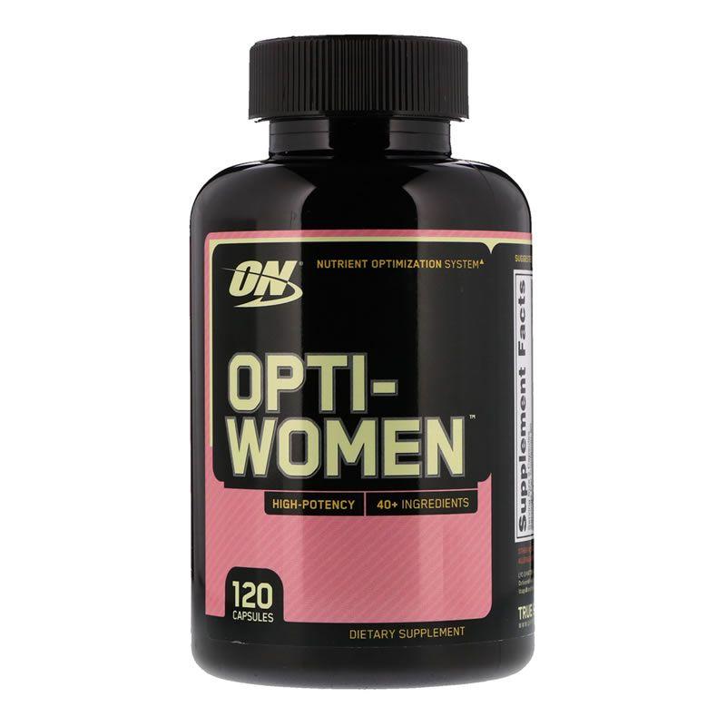 Opti-women multivitamínicos para mulher optimum nutrition - 120 Cápsulas