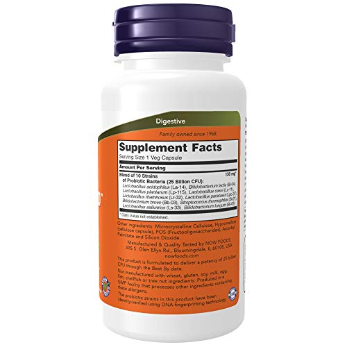 Probióticos-10 25 Billion Now Foods - 100 Capsulas