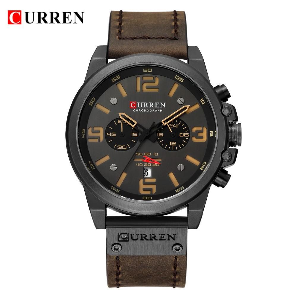 Relógio Masculino Curren 8314 BNY - Marrom e Bege