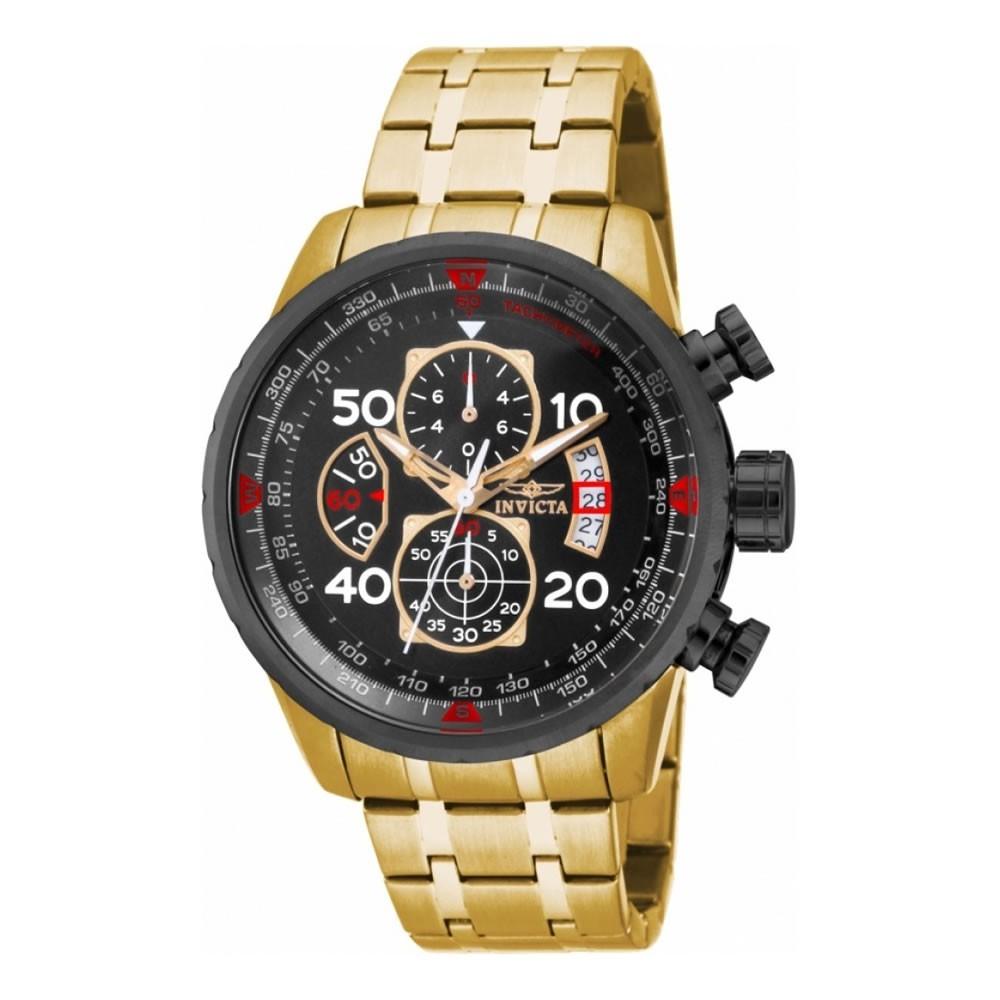 Relógio Masculino Invicta 17206 Aviator Â- Dourado
