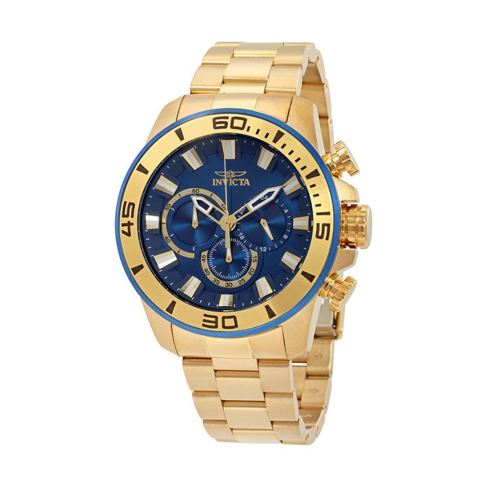 Relógio Masculino Invicta Pro Diver Modelo 22587 Dourado