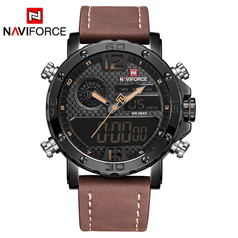 Relógio Masculino Naviforce 9134 BY Esportivo - Preto Marron