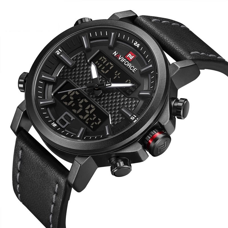 Relógio Masculino Naviforce 9135 BGY Esportivo - Preto