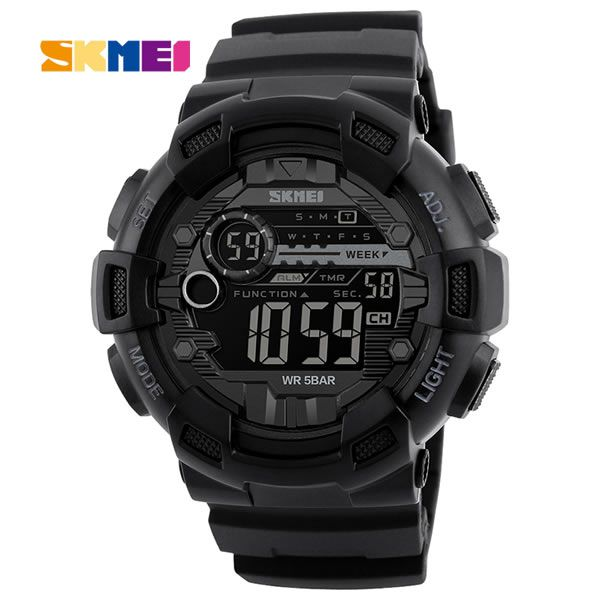 Relógio Masculino Skmei 1243 Militar - Preto