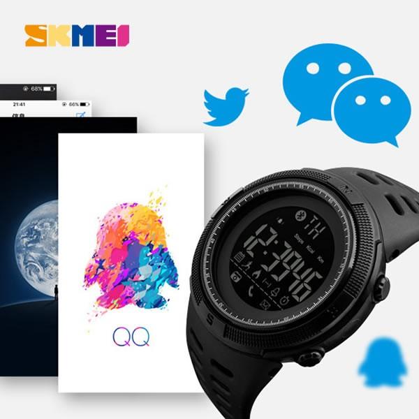 Relógio Masculino Skmei 1250 Bluetooth - Preto