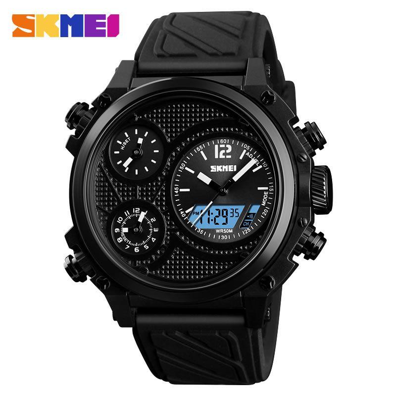 Relógio Masculino Skmei 1359 BB Pulseira em Silicone Â- Preto