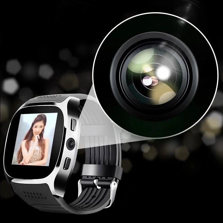 Relógio Inteligente T8 Câmera Bluetooth SIM Card - Android IOS