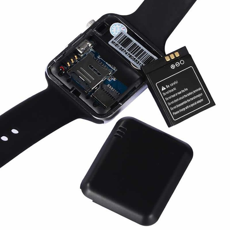 Relógio Inteligente Smartwarch A1 Android Iphone Chip Bluetooth - Preto