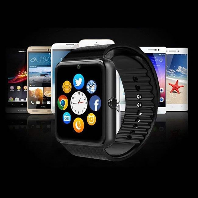 Relógio Inteligente Smartwatch Gt08 Bluetooth e Celular - Preto