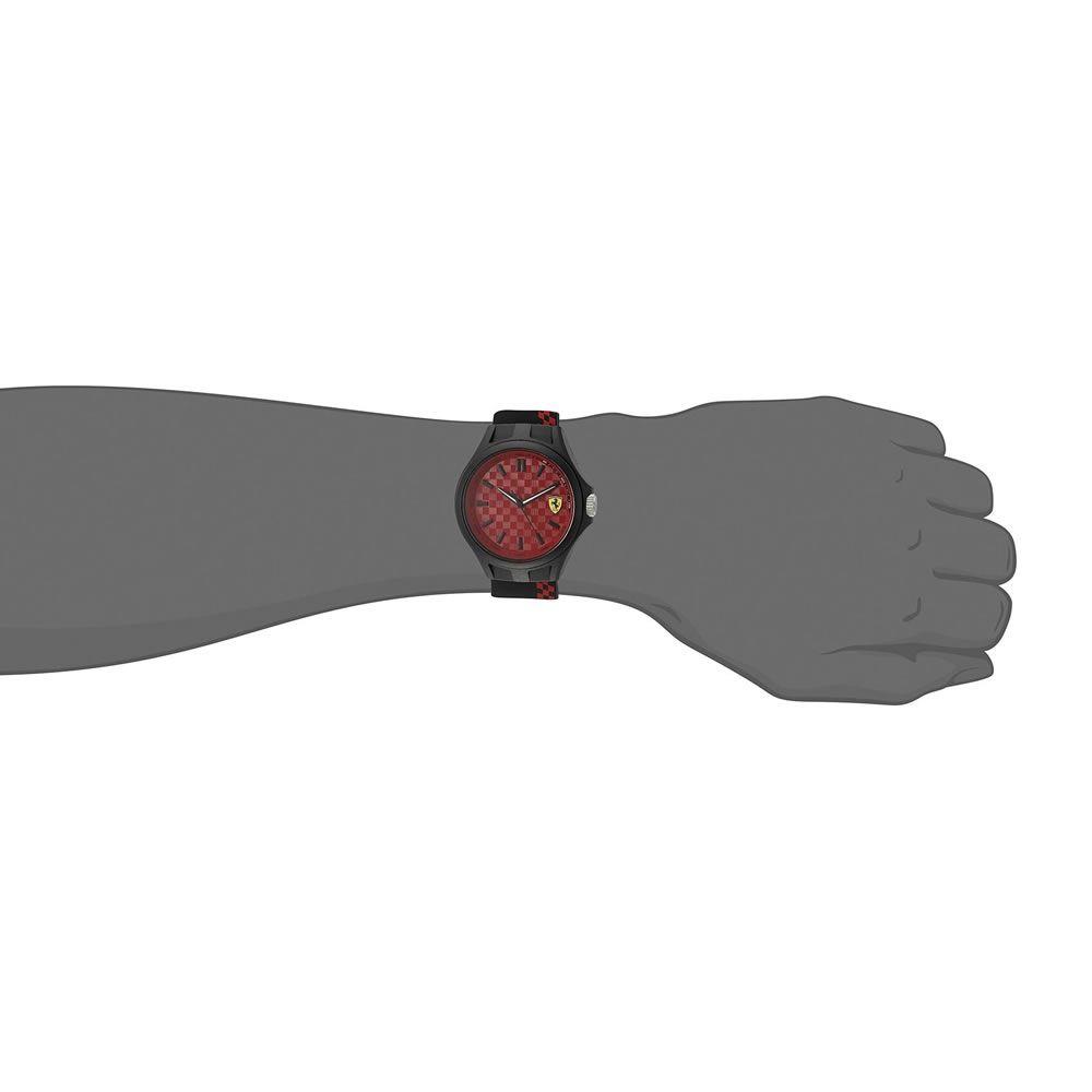 Relógio Masculino Ferrari modelo 0830325 - Preto e Vermelho