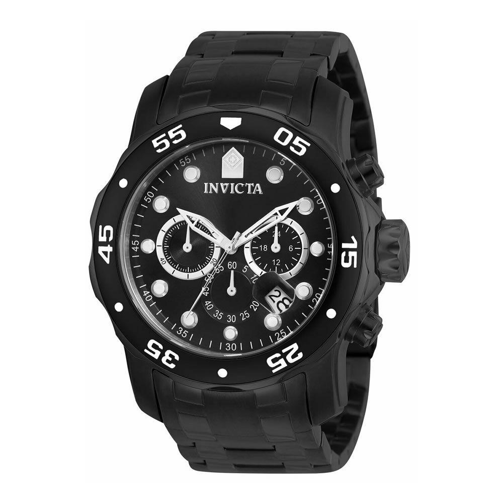 Relógio Masculino Invicta 0076 Pro Diver Collection Chronograph – Preto