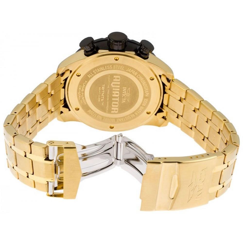 Relógio Masculino Invicta 17206 Aviator – Dourado