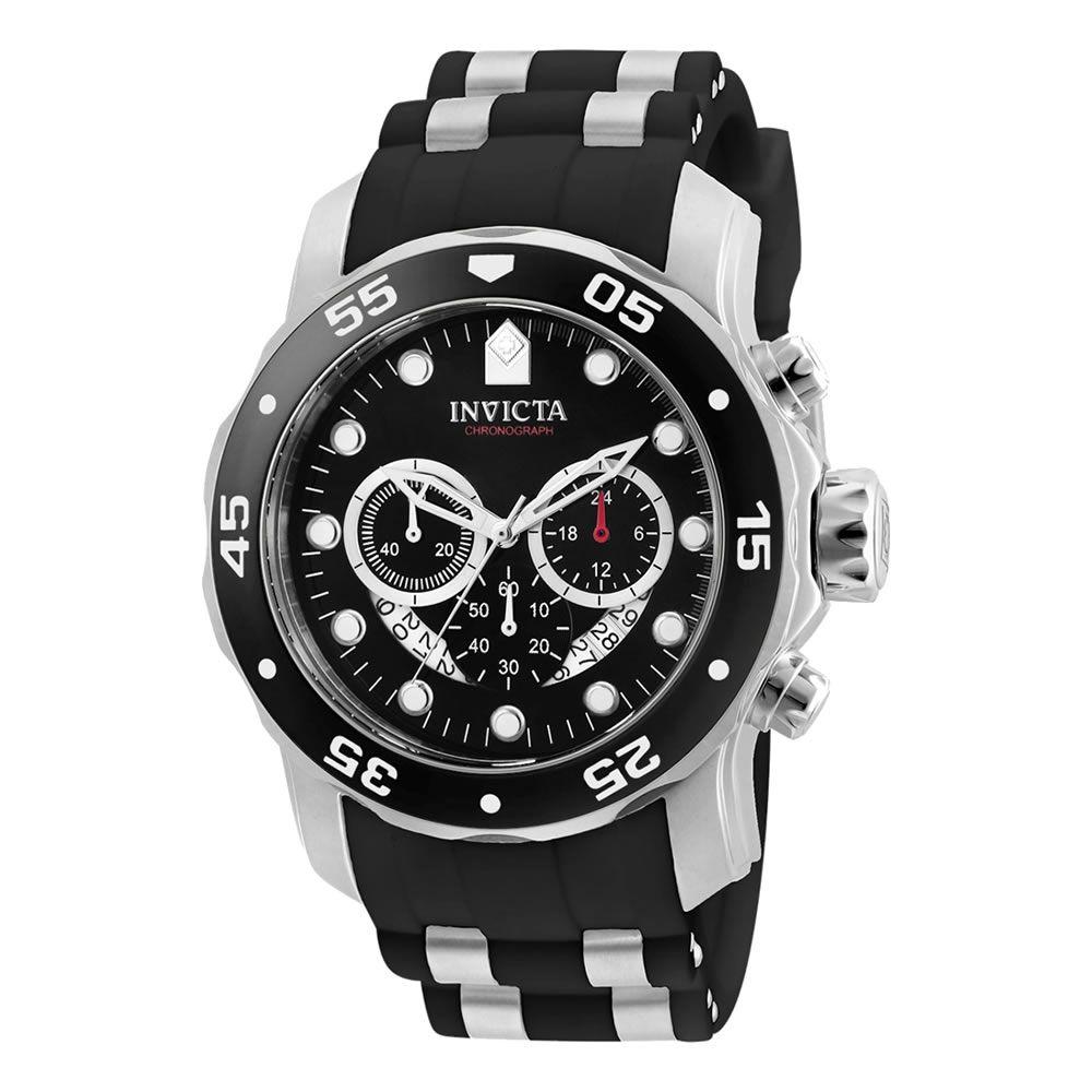 Relógio Masculino Pro Dive Cronógrafo Modelo 6977 Prateado