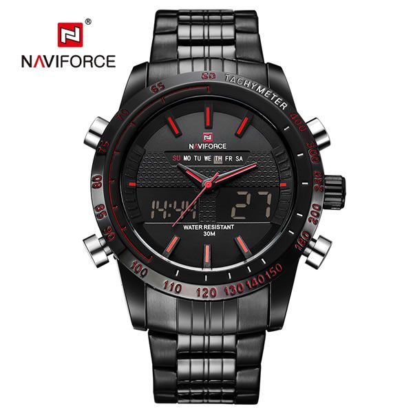 cdbb88bc41c Relógio Masculino Naviforce 9024 - Black Red