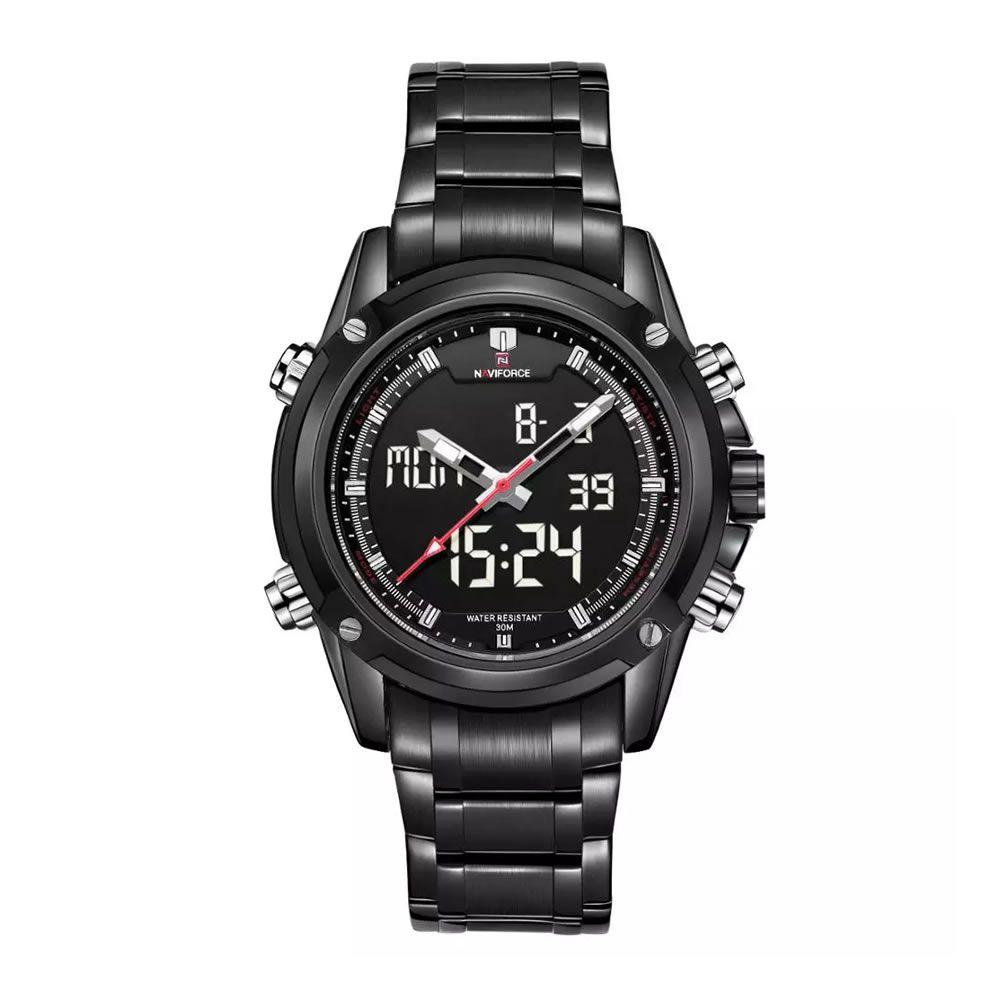 Relógio Masculino Naviforce 9050 BBW Esportivo Casual - Preto