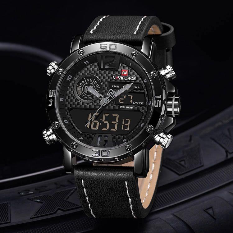 Relógio Masculino Naviforce 9134 Esportivo Elegante - Preto
