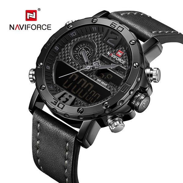 Relógio Masculino Naviforce Modelo NF9134 - Preto Cinza
