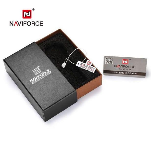 Relógio Masculino Naviforce Modelo NF9134 - Preto Vermelho
