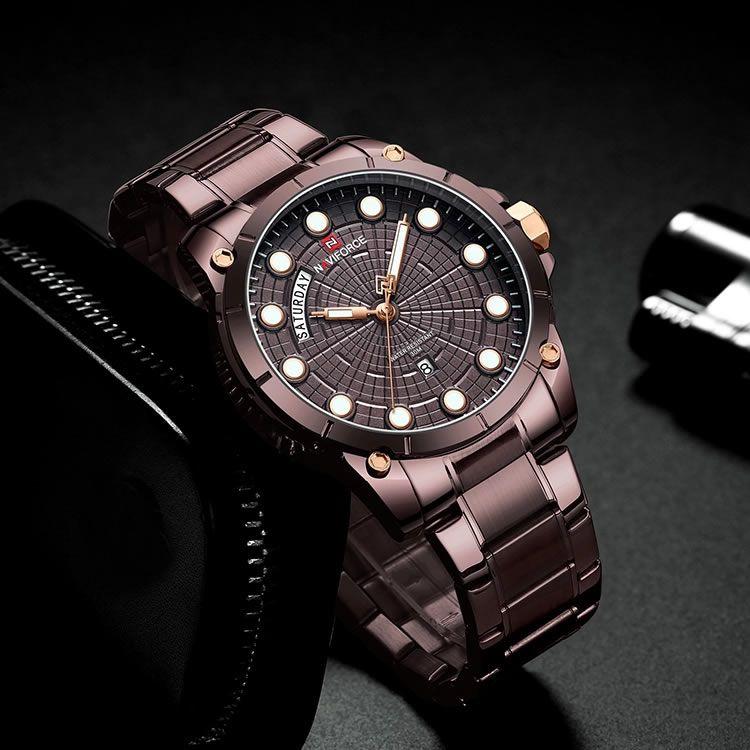 Relógio Masculino Naviforce NF9152 CECE Pulseira em Aço – Marsala