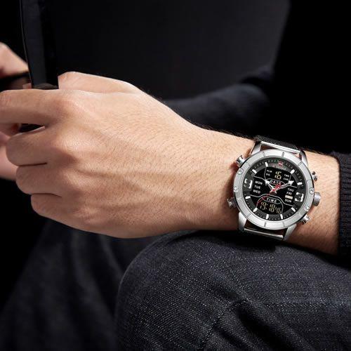 Relógio Masculino Naviforce NF9153 SB Pulseira em Aço – Inox