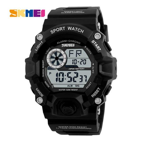 Relógio Masculino Skmei 1019 Esportivo Militar - Preto