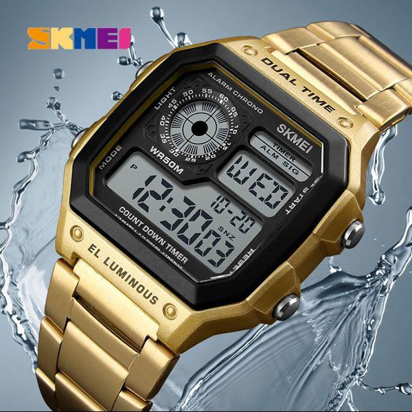 Relógio Masculino Skmei Modelo SK1335 Digital - Dourado