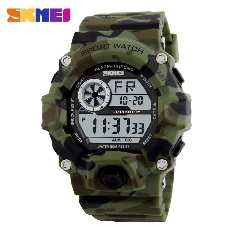 Relógio Masculino Skmei 1019 Esportivo Militar - Verde Camuflado