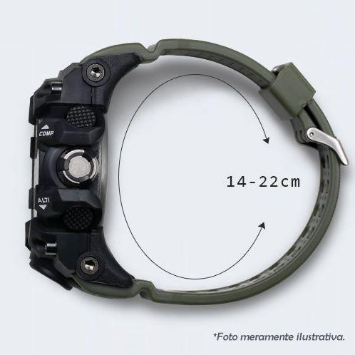 Relógio Masculino SMAEL 1545 à Prova D'água 50m Fundo Verde