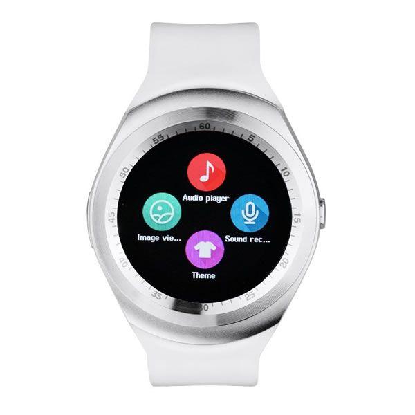 Relógio Inteligente Y1 Bluetooth Android & Ios - Branco com Prata