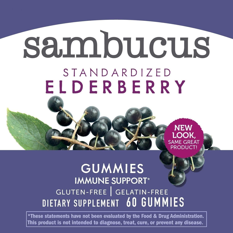 Sambucus Sabugueiro Preto com Vitamina C e Zinco Natures Way - 60 Gummies