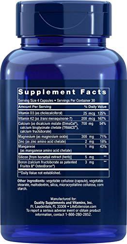 Saude Ossea com Vitamina K2 Life Extension - 120 Softgels
